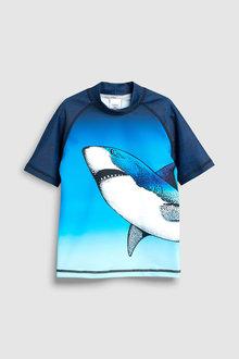 Next Shark Rash Vest (3-16yrs)