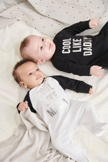 Next Slogan Sleepsuits Two Pack (0mths-2yrs)