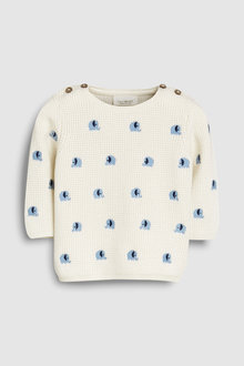 Next Elephant Embroidered Knit Jumper (0mths-2yrs)