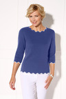 Euro Edit Contrast Edge Detail Pullover