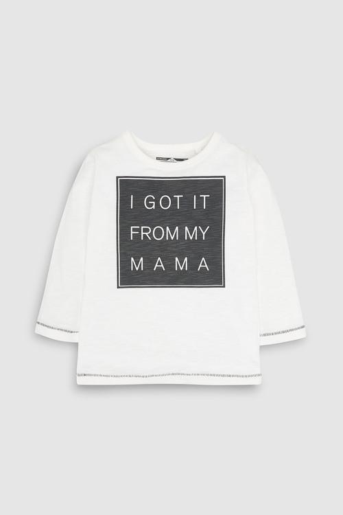 Next White Mama Long Sleeve T-Shirt