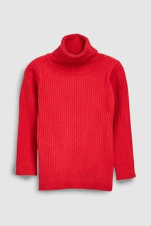 Next Red Roll Neck Jumper - 229086