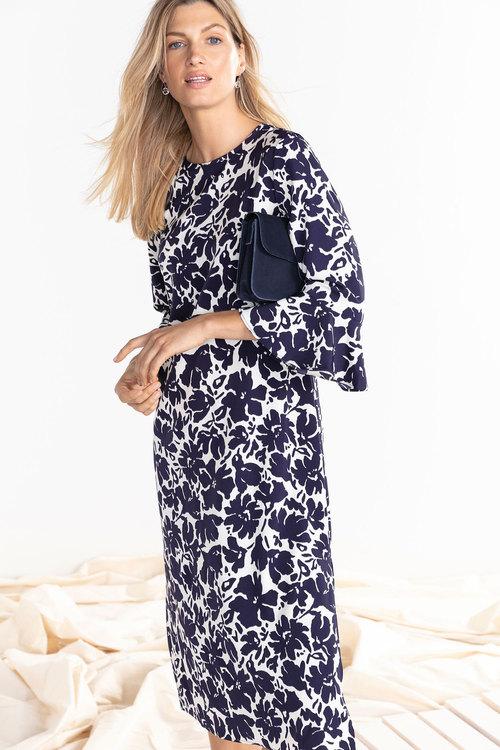 Capture Ruffle Sleeve Midi Dress