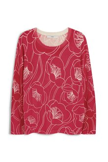 Next Pink Floral Printed Sweater - 229309
