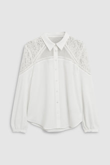 Next Ecru Lace Shirt - 229334
