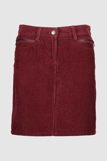 Next Rust Cord Mini Skirt - 229352