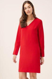 Next RED V-NECK CREPE SHIFT DRESS - 229373