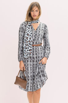 Emerge Midi Long Sleeve Dress - 229410