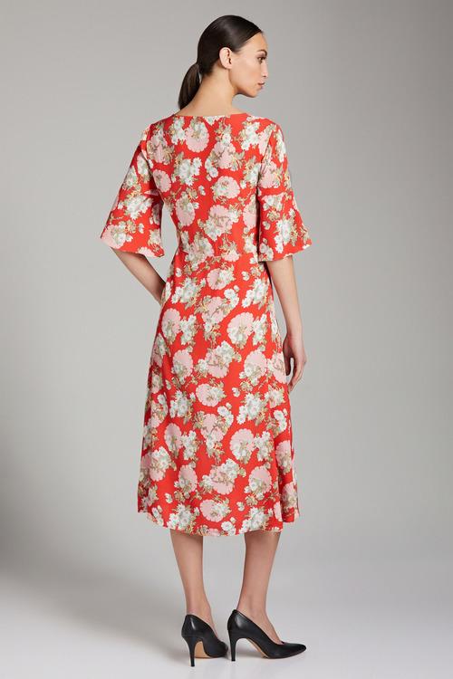 Emerge Button Detail Midi Dress