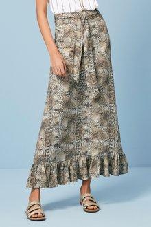 Next Ruffle Hem Maxi Skirt-Tall