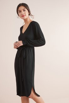 Next Belted Long Sleeve Dress-Tall