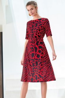 Next Animal Belted Dress-Tall