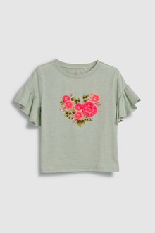 Next 3D Floral Embellished T-Shirt (3-16yrs)