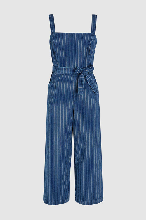 Next Striped Belted Jumpsuit