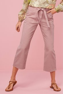 Next Belted Utility Cropped Jeans