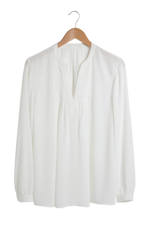 Grace Hill Pintuck Long Sleeve Blouse
