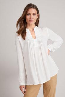 Grace Hill Pintuck Long Sleeve Blouse - 229485