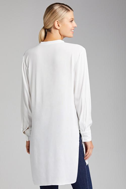 Grace Hill Longline 1/2 Placket Shirt