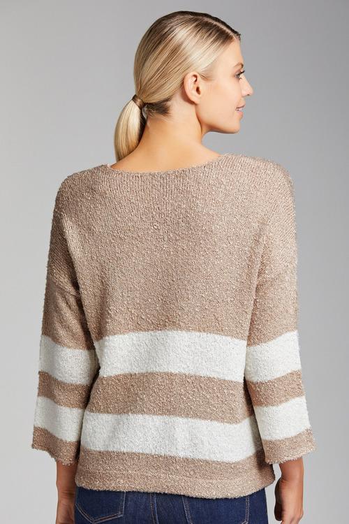 Emerge Stripe Boxy Sweater