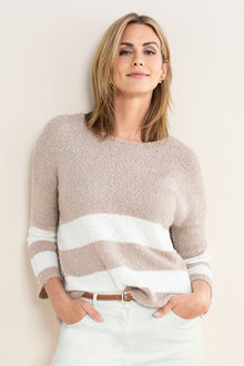 Emerge Stripe Boxy Sweater