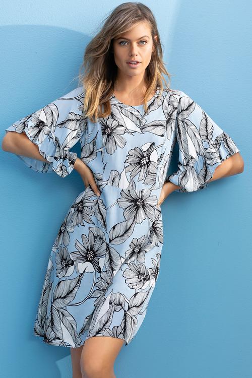 Emerge Ruffle Sleeve Dress