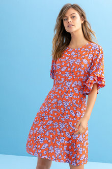 Emerge Ruffle Sleeve Dress