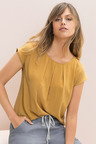 Emerge Pleat Front Shell Top