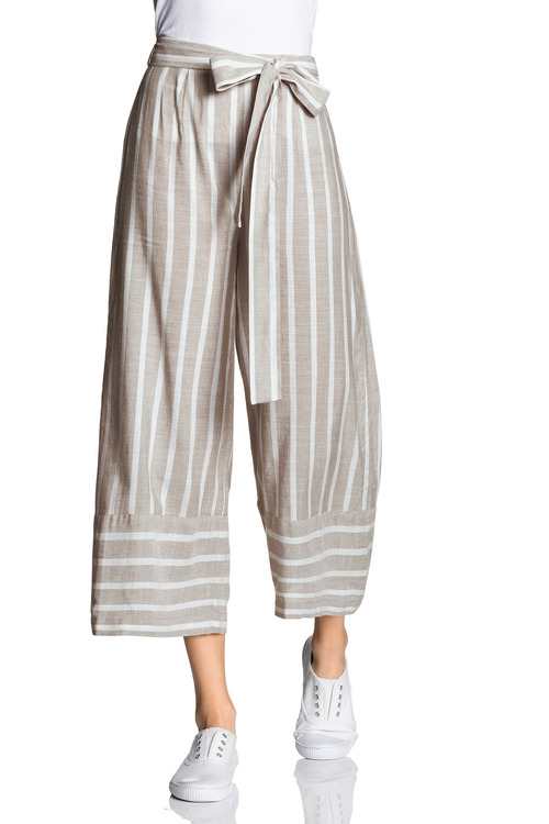 Emerge Linen Blend Stripe Culottes
