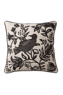 Bird Embroidered Cushion - 229507