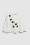 Next Ecru Sequin Star Long Sleeve T-Shirt (5-16yrs)