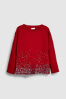 Next Red Long Sleeve Sequin Top (5-16yrs)