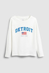 Next White Detroit Long Sleeve T-Shirt (5-16yrs)