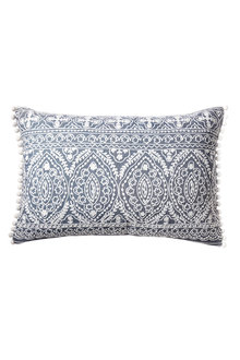 Pom Pom Embroidered Cushion