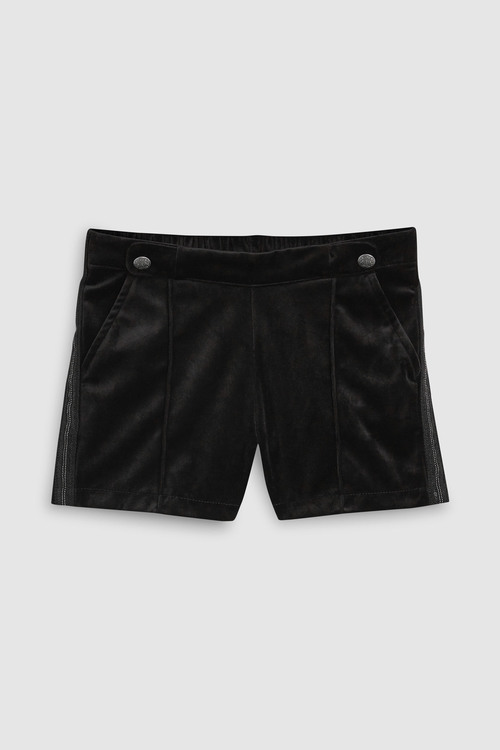 Next BLACK VELOUR SHORTS WITH SPARKLE TIGHTS
