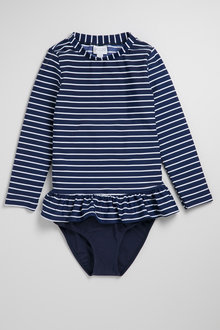 Pumpkin Patch Girls Rash Set Stripe