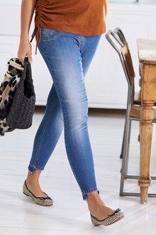 Next Maternity Fringe Hem Jeans