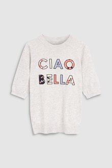 Next Ciao Bella Slogan Jumper