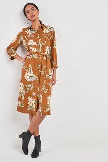 Next Floral Utility Shirt Dress