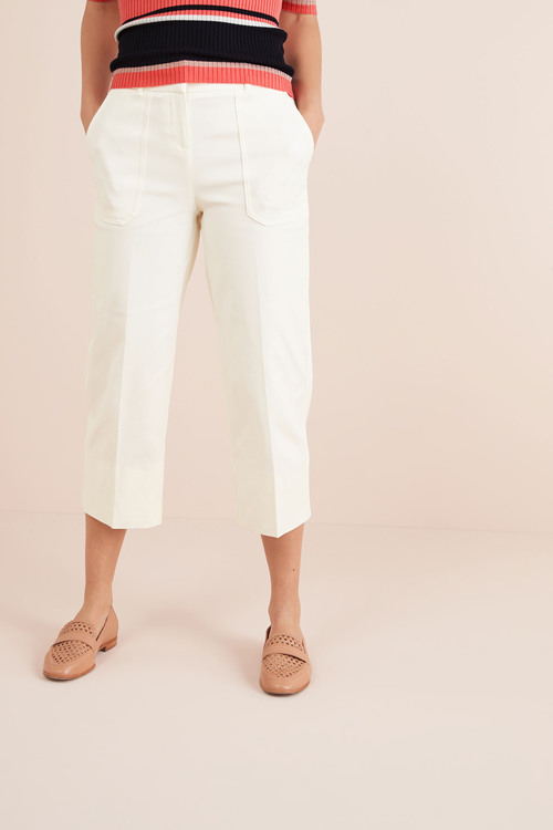 Next Twill Wide Leg Trousers