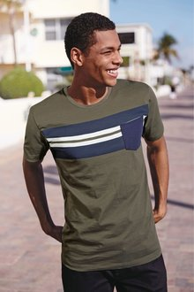 Next Block Chest Stripe T-Shirt
