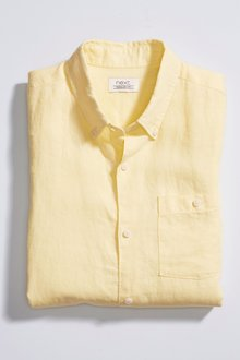 Next Linen/Cotton Short Sleeve Shirt