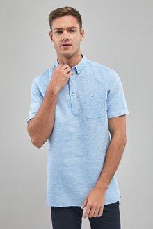 Next Linen Cotton Overhead Shirt