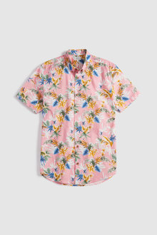 Next Short Sleeve Tropical Floral Print Shirt