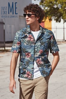 Next Short Sleeve Hawaiian Toucan Print Shirt