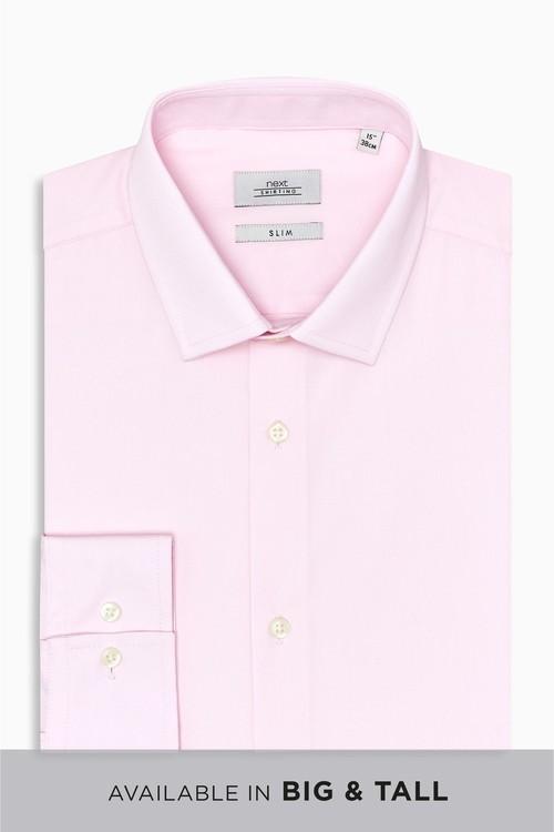 Next Easy Care Shirt- Slim Fit Single Cuff