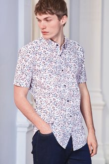 Next Short Sleeve Floral Print Shirt