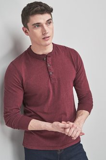 Next Soft Touch Long Sleeve Grandad Top