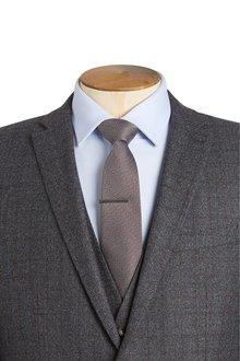 Next Signature Silk Tie With Tie Clip