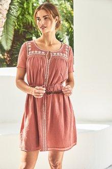 Next Embroidered Dress-Tall
