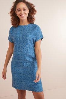 Next Pure Linen T-Shirt Dress